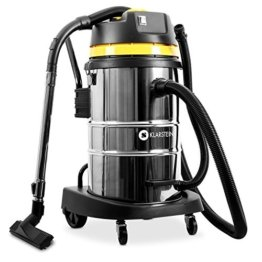 Klarstein IVC-50 Nass-Trockensauger Industriesauger (Beutellos, 50 Liter Edelstahl Behälter, 2000 Watt Saugleistung, regulierbare Saugstärke, viel Zubehör) silber-gelb -