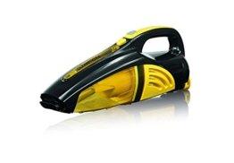 CLEANmaxx 00973 Akku-Handstaubsauger | Nass-Sauger und Trocken-Sauger in einem | Kabellos dank 7,4 V Akku | Inkl. Diverser Aufsätze | Ideal auch fürs Auto | Schwarz-Gelb -