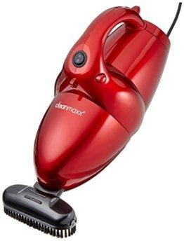 CLEANmaxx 01375 Multi-Handstaubsauger | Nass-Sauger und Trocken-Sauger in einem | Gebläse-Funktion | Leistungsstarke 800 Watt | Inkl. Diverser Aufsätze | Ideal auch fürs Auto | Rot -