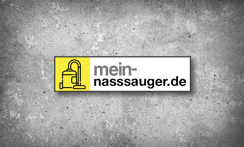 Logo mein-nasssauger.de vor einer Betonoberfläche